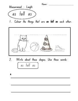 Measurement - Length - Informal - Comparison