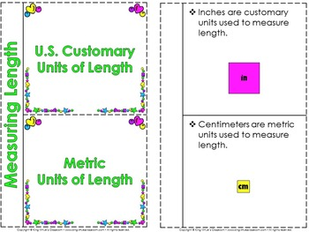 Measurement: Length Interactive Notebook BUNDLE - Customary and Metric