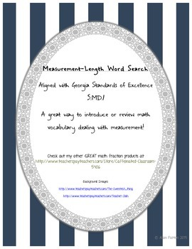 Measurement-Length Word Search