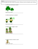 Measurement, Length and Size (St. Patrick's Day Themed)