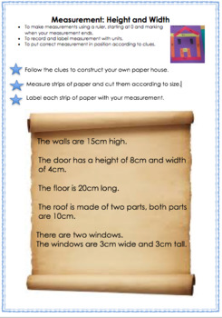 Measurement: Length and Width - Constructing a paper house