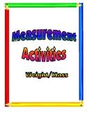 Measurement Lesson Activities - Weight/Mass