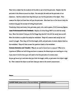 Measurement Lesson Plan with Worksheet