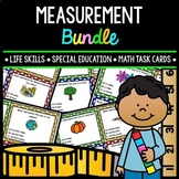 Measurement - Life Skills - Special Education - Math - Task Cards - Bundle