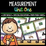 Measurement - Life Skills - Special Education - Math - Task Cards - Unit 1