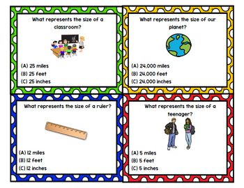 Measurement - Life Skills - Special Education - Math - Task Cards - Unit 1