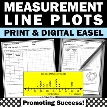 Line Plots Centers, Measurement Worksheets, 4th Grade Math Centers