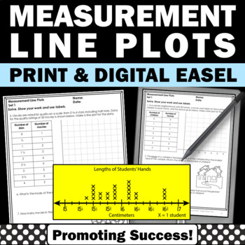 4th Grade Line Plots with Measurements Worksheets