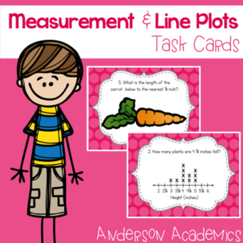 Measurement & Line Plots Task Cards {3.MD.4}