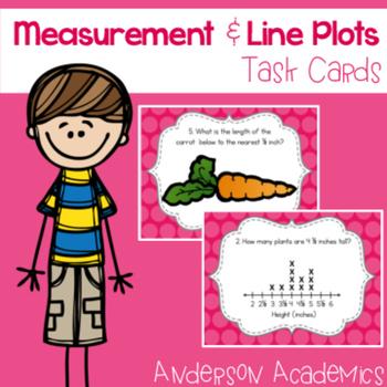 Measurement & Line Plots Task Cards {3.MD.4}