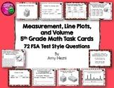 Measurement, Line Plots, & Volume 72 Task Cards 5th Grade FSA Style Questions