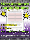 Measurement: Liquid Volume Cut and Paste Activity - Milliliters and Liters