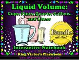 Measurement: Liquid Volume Interactive Notebook BUNDLE - Customary and Metric
