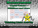 Measurement: Liquid Volume Thinking Links Activity #1 - Milliliters and Liters