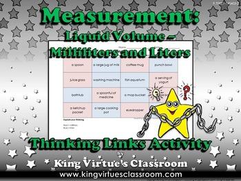 Measurement: Liquid Volume Thinking Links Activity #1 - Milliliters and Liters