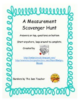 Measurement Looping Scavenger Hunt