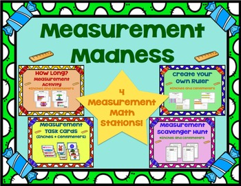 Measurement Madness! - 4 Common Core Aligned Math Stations