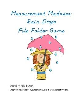 Measurement Madness Rain Drops File Folder Game