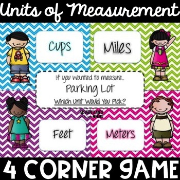 Measurement Mambo - A Unit Choosing 4 Corner Game