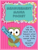 Measurement Mania Packet (Using whole,half,& quarter inches)