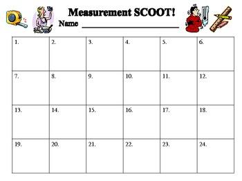 Measurement Mania SCOOT! Assessment
