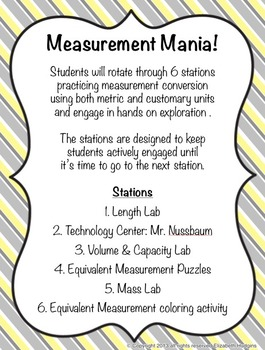 Measurement Mania! {6 Stations}