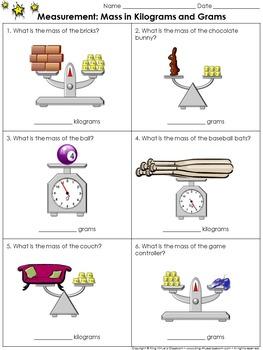Measurement: Mass in Kilograms and Grams Practice Sheets - King Virtue