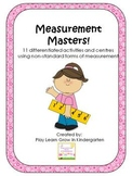 Measurement Masters: 11 differentiated activities using non-standard units