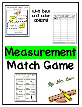 Measurement Match Game