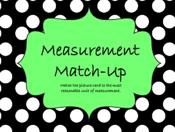 Measurement Match-up Task Cards with Recording Sheet