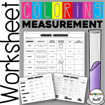 Measurement Matching Activity for Middle and High School Students