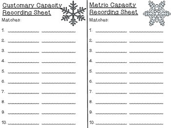 Measurement Matching - Customary & Metric
