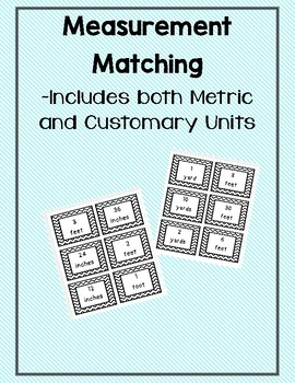 Measurement Matching -Customary and Metric Length