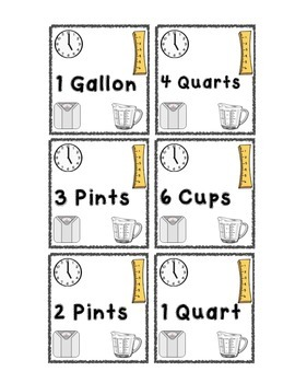 Measurement Matching Game - Includes Customary and Metric