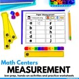 Measurement Math Centers Kindergarten