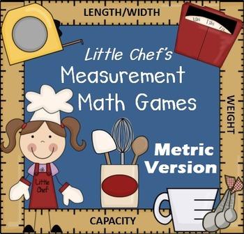 Measurement Math Games & Activities (Metric Version)