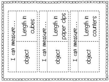 Measurement Math Journal Activities