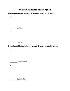Measurement Math Quiz