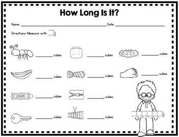 Measurement Math Stations for Kindergarten