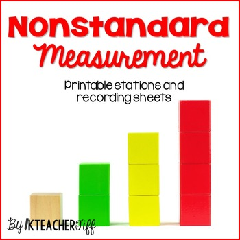 Measurement Math Stations for Kindergarten