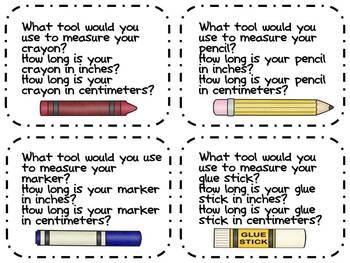 Measurement Math Task Cards