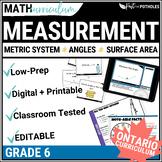 Measurement Math Unit - complete unit (grade 6)