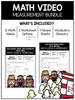 Measurement Math Video and Worksheet Bundle / Distance Learning