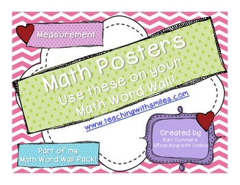 Measurement Math Word Wall Posters
