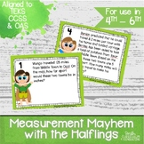Measurement Mayhem with the Halflings Task Cards- 4th through 6th Grade