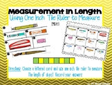 Measurement: Measure with One Inch Tile Ruler Center - GO MATH! Chapter 8