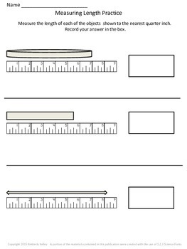 Customary Measurement- Measuring Length Practice (in inches)