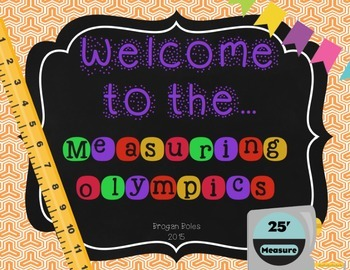 Measurement {Measuring Olympics FREEBIE}