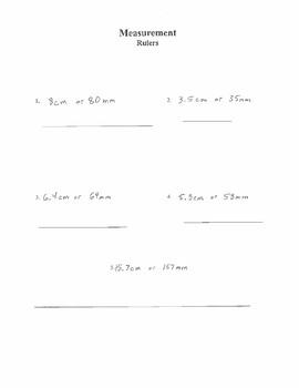 Measurement Metric | Centimeters (cm) and Millimeters (mm)