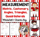 Measurement Metric Customary Angles Triangle Quadrilateral Geometry Practice